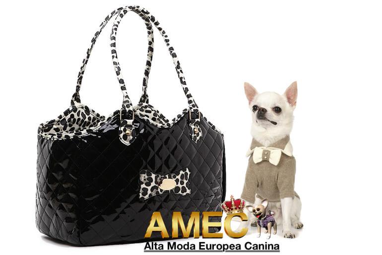 Europea Perros Alta Bolsos Canina Negros Moda q8Z5RCIw